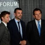 Sr. Alfonso Martínez, Director General ZAL, Sr. Santi Vila, Conseller de Territori i Sostenibilitat i Sr. Sixte Cambra, President del Port de Barcelona
