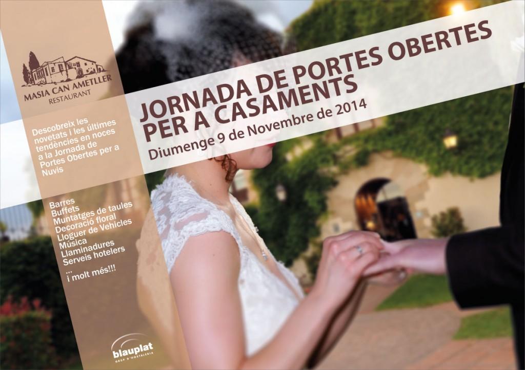 Cartell de la Jornada de Portes Obertes per a Casaments - Tardor 2014