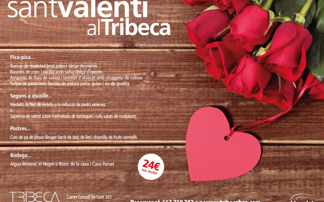 Menú Sant Valentí 2017